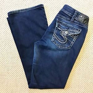SILVER JEANS   Suki Surplus Flap Pockets 31x31.5